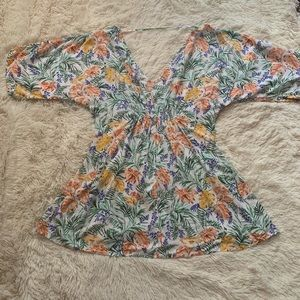 Onia Tropical Print Tunic Bathing Suit